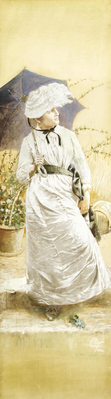 Dama con ombrellino, Carmine Toro