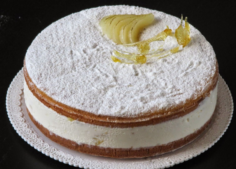 history and curiosity of the ricotta and pear cake