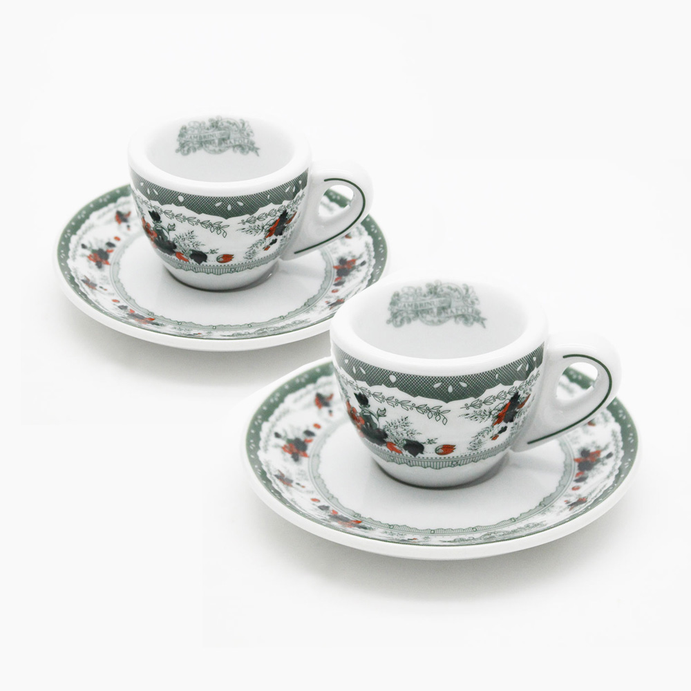 Two coffee cups and coffee liberty style gran caff for Arredamenti stile liberty