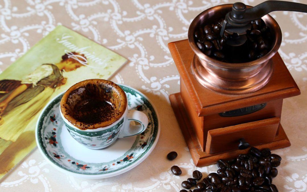 The crambled coffee