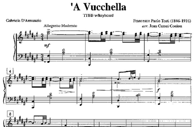 'A vucchella, a classic of Neapolitan song
