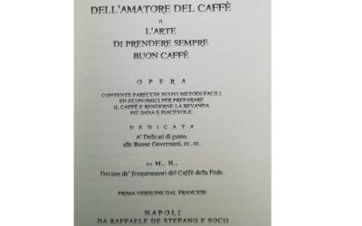 Manuale del perfetto amatore del caffè de 1836
