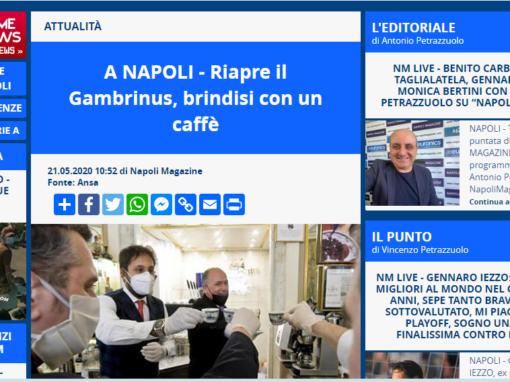 A Napoli- riapre il Gambrinus, brindisi con un caffè