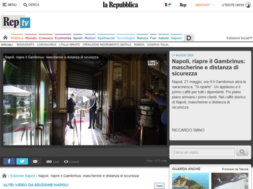 Napoli, riapre il Gambrinus: mascherine e distanza di sicurezza