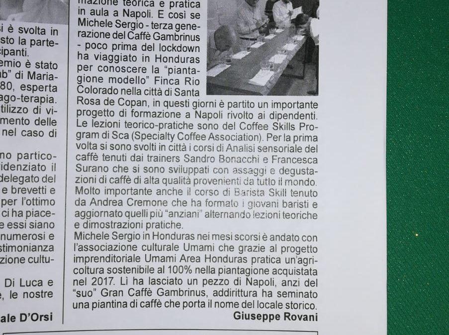 Caffè piantagione in Honduras e corsi di formazione a Napoli