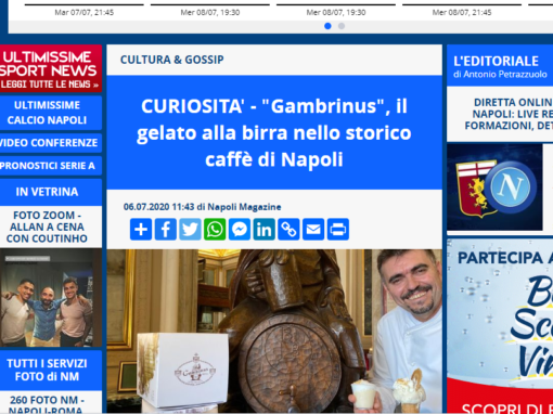 """""""Gambrinus"""", il gelato alla birra nello storico caffè di Napoli"""