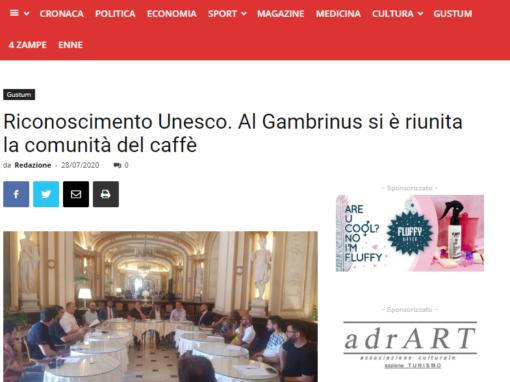 Riconoscimento Unesco. Al Gambrinus si è riunita la comunità del caffè