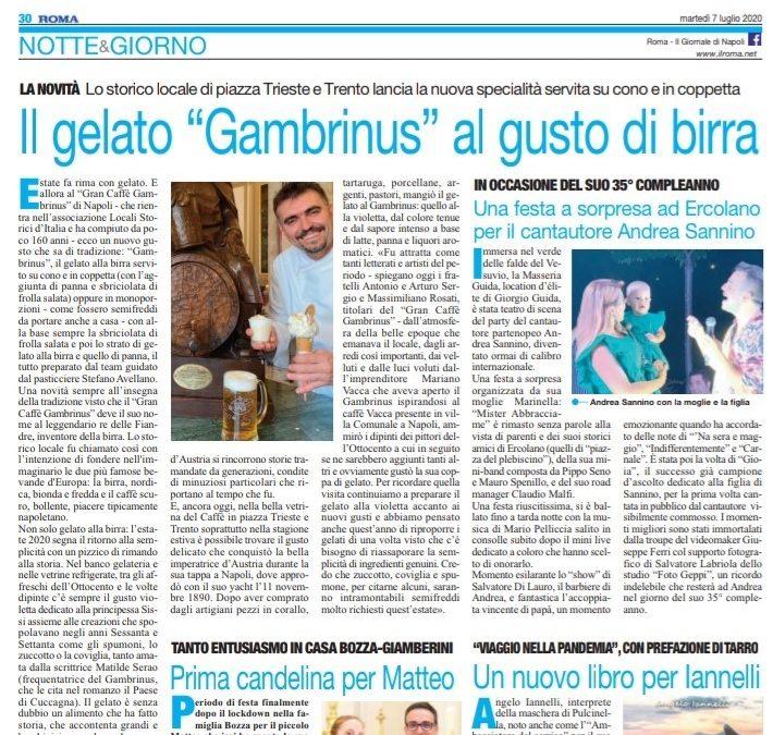 """Il Gelato """"Gambrinus"""" al gusto di birra"""
