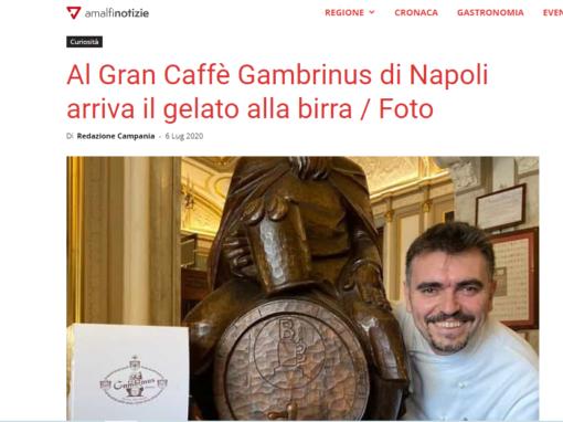Al Gran Caffè Gambrinus di Napoli arriva il gelato alla birra