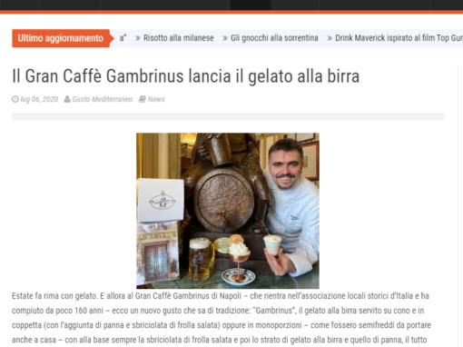 Il Gran Caffè Gambrinus lancia il gelato alla birra