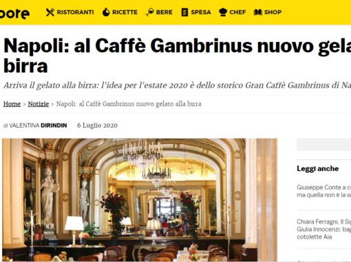 Napoli: al Caffè Gambrinus nuovo gelato alla birra