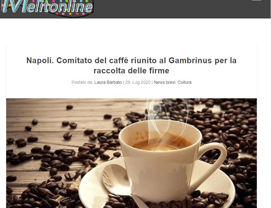 Napoli. Comitato del caffè riunito al Gambrinus per la raccolta delle firme