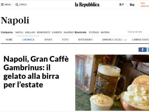 Napoli, Gran Caffè Gambrinus: il gelato alla birra per l'estate