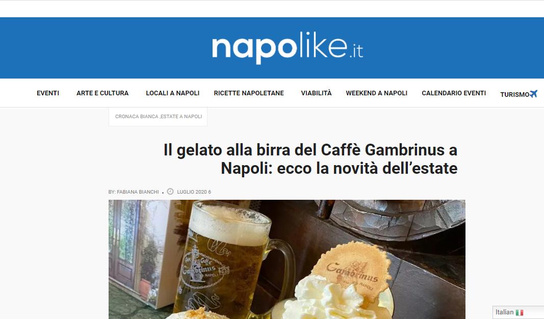 Il gelato alla birra del Caffè Gambrinus a Napoli: ecco la novità dell'estate