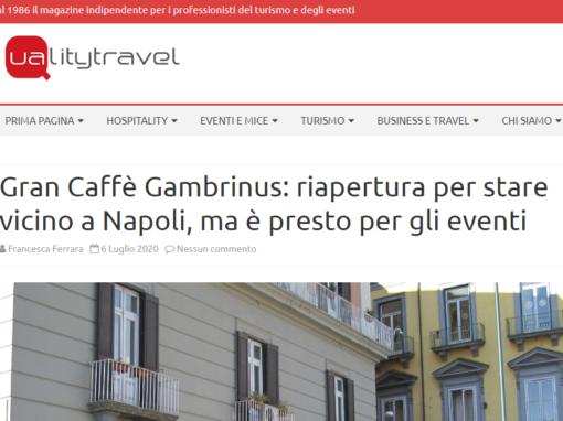 Gran Caffè Gambrinus: riapertura per stare vicino a Napoli, ma è presto per gli eventi
