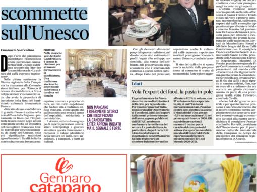 Anche il caffè scommette sull'Unesco